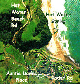 AuntieDawns Place at Hot Water Beach